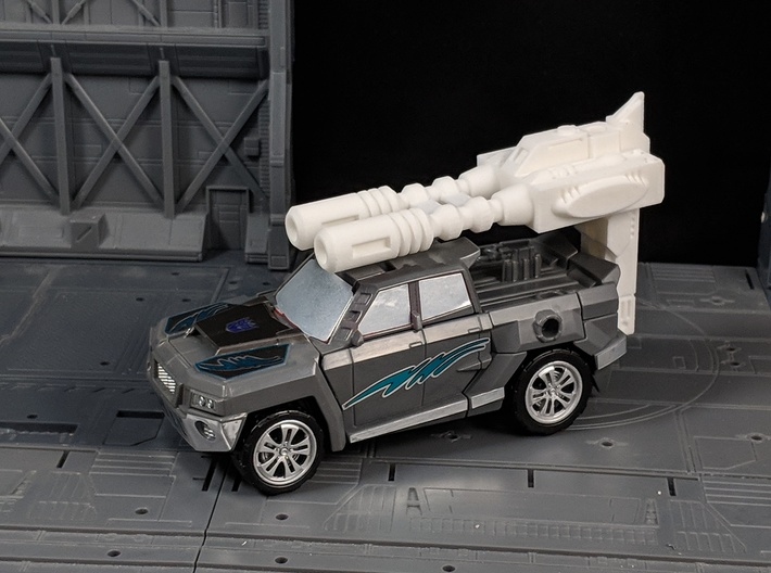 TF CW First Aid Car Cannon Adapter 3d printed Used with Stunticon Offroad and Stunticon Car Cannon