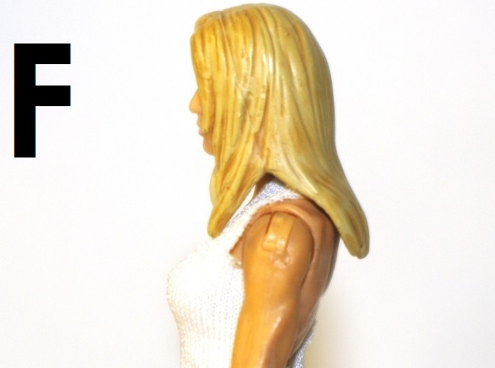 """1:18 Scale Action Figure FEMALE Neck Barbell Adapt 3d printed Peg """"F"""" Sample"""