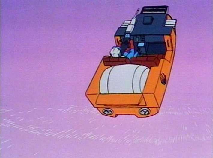 M.A.S.K. Gator Speedboat Turbine 3d printed Reference from the Cartoon
