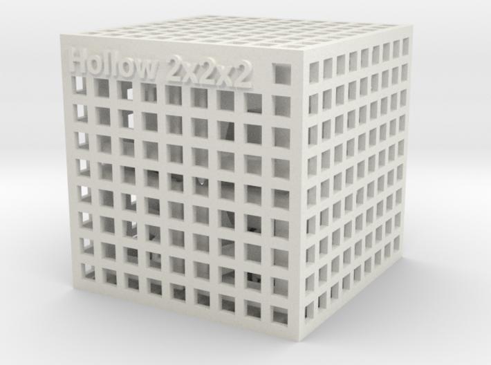 Hollow 2x2x2 3d printed