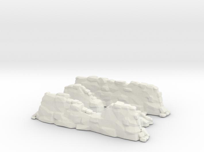 Stone Wall Ruins Sprue 3d printed