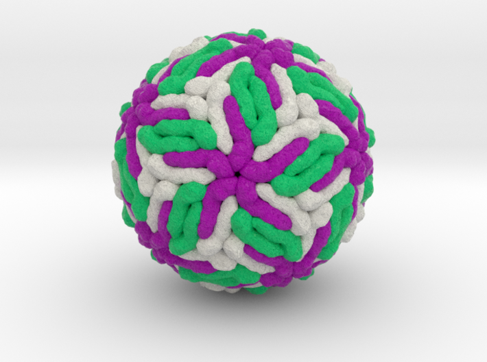 Zika Virus 3d printed