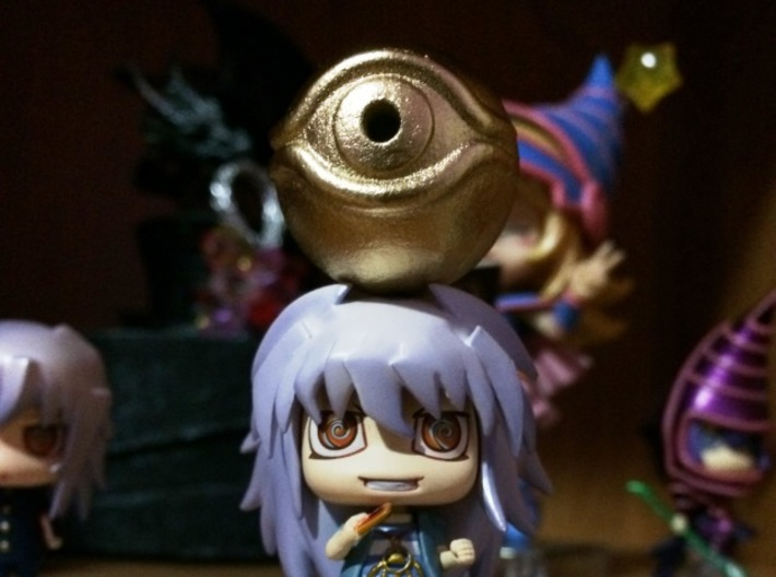 Millennium Eye - Yu-gi-oh! 3d printed Painted with glossy black and metallic gold spray paint!
