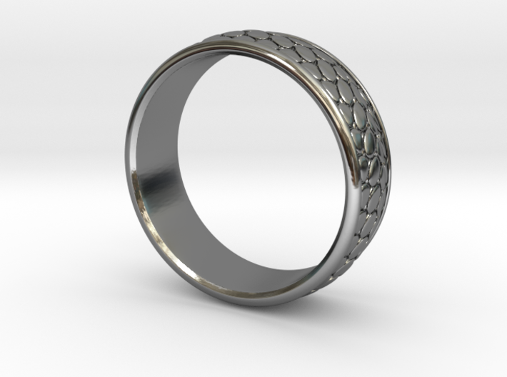 Snake Pattern Ring 3d printed