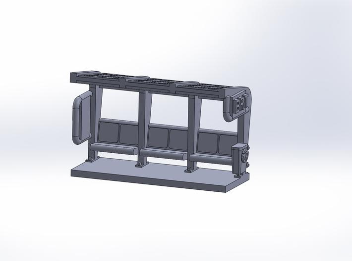 Bus station modern 3d printed