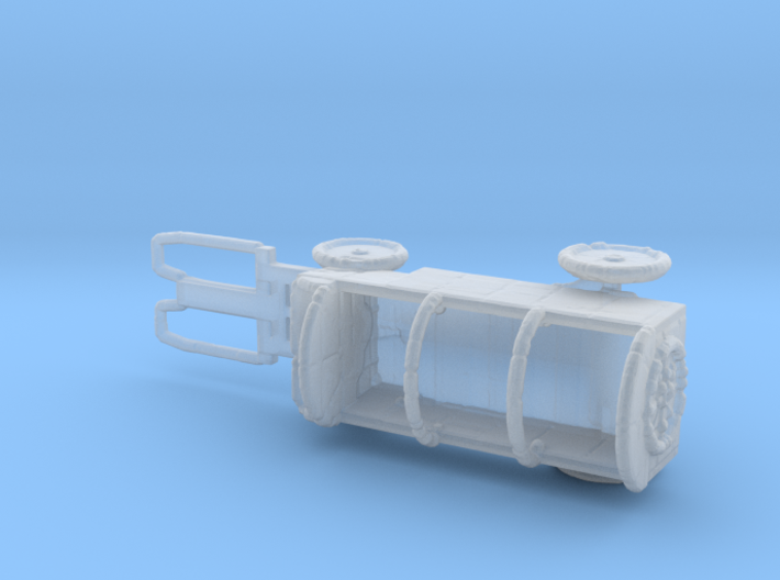 N Scale Hay Wagon 3d printed This is a render not a picture