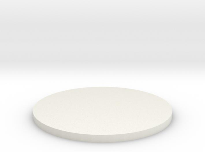 50mm Circular Miniature Base Plate 3d printed