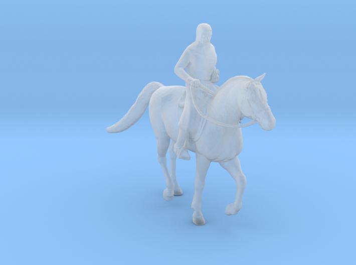 Knight Templar Horseback 3d printed
