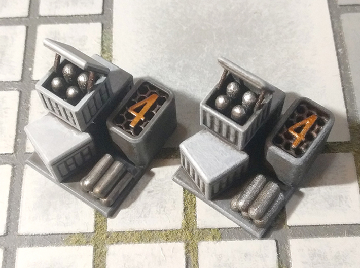 Six Objectives 3d printed White Processed Versatile Plastic (grainy) vs. Smooth Fine Detail Plastic (smooth)