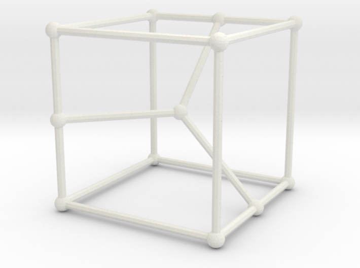 Cubic graph on 12 vertices with girth = 5, no. 2 3d printed