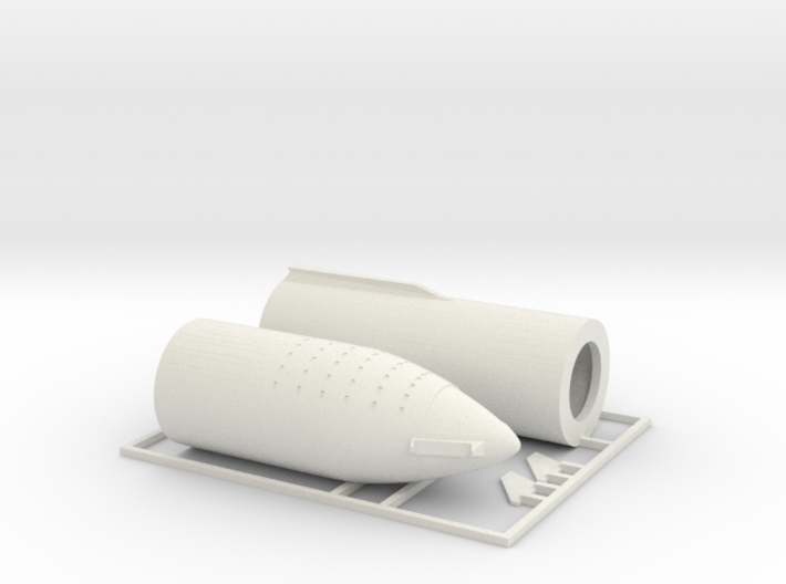1/300 SpaceX BFR 2018 version 3d printed