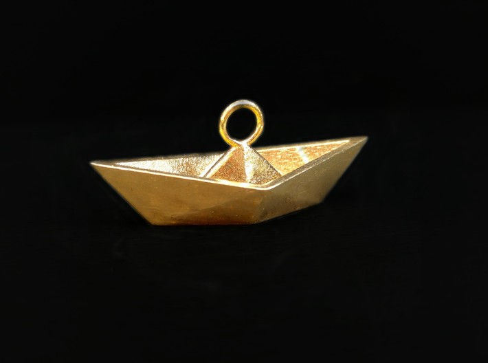 Paper Boat Necklace/Pendant I 3d printed