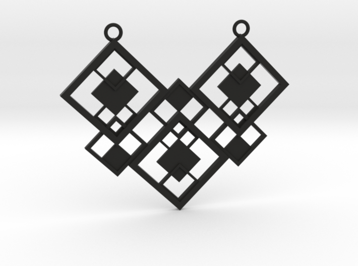 Geometrical necklace no.2 3d printed