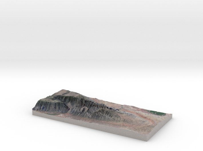 "Split Mountain Map, Utah:  1.5x VE, 6""x12"" 3d printed"