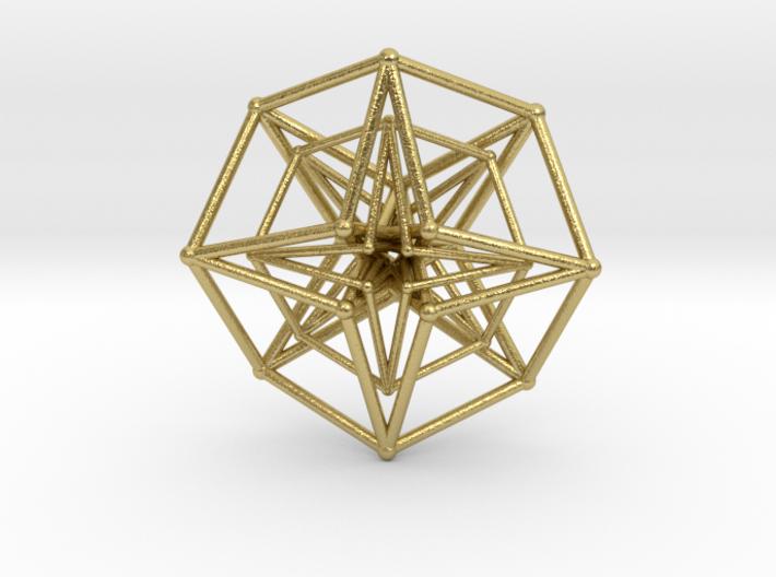 Double Hypercube pendant 30mm 3d printed