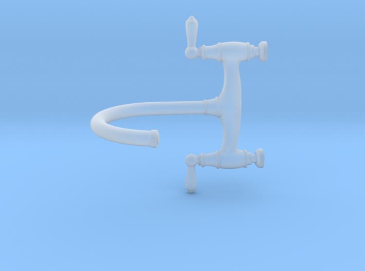 1:12 Traditional Bridge Faucet  3d printed