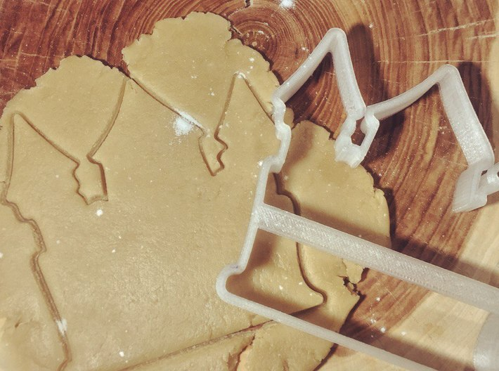 Castle cookie cutter for professional 3d printed