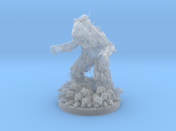 The Rat King 3d printed
