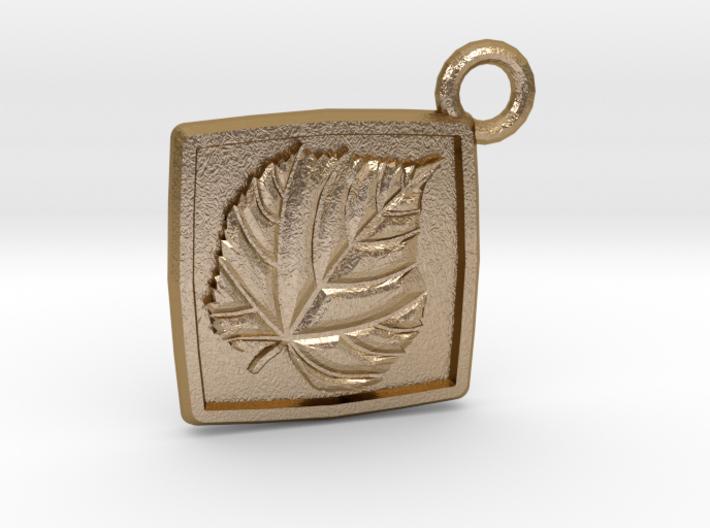 Linden leaf keychain 3d printed