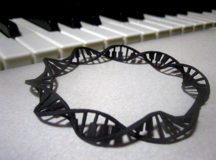 Twisted Piano Keyboard Cuff 3d printed
