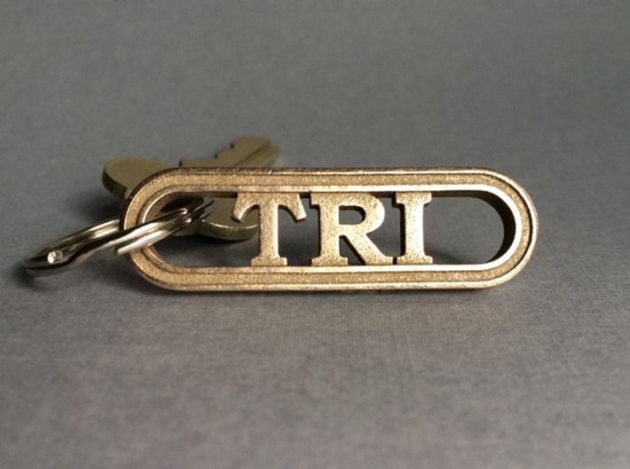 Triathlete Gift Keychain 3d printed Swim Bike Run!