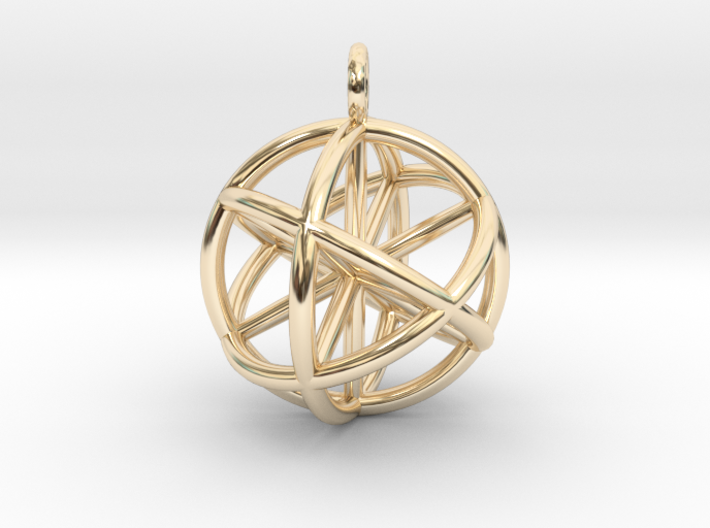 Seed of Life - 6 Axis 30mm.stl 3d printed