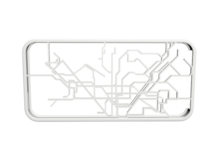 Barcelona Metro map iPhone 5s case 3d printed