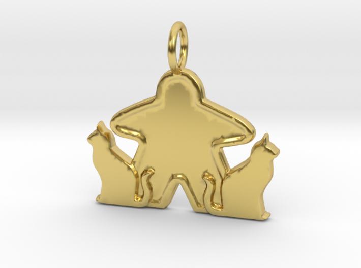 Cat meeple pendant 3d printed