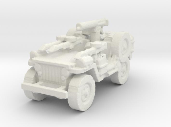 1/100 LRDG Jeep 6 3d printed