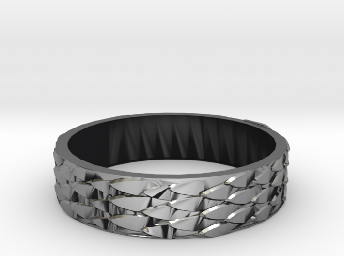 Celtic Dragon Scale Ring (Female version) 3d printed
