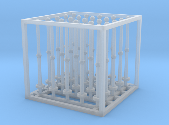 1/48 USS Olympia Stanchions Type A (set of 25) 3d printed