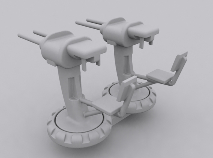 Twin Machine Gun Set 3d printed