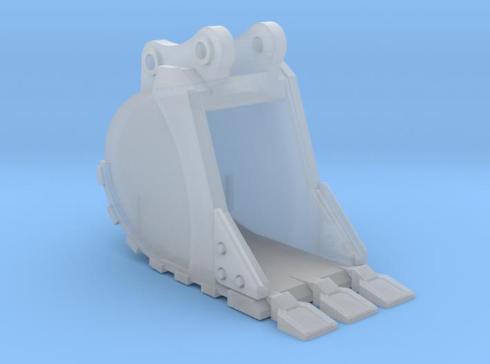 """1:50 24"""" PC138 Bucket+ Spade teeth 3d printed"""