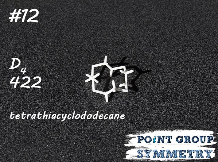 #12 D4tetrathiacyclododecane 3d printed Shown material: White Natural Versatile Plastic