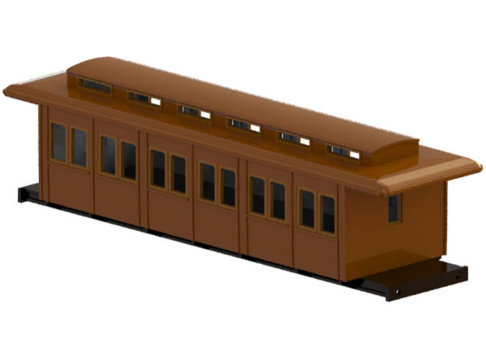 C3a - Swedish passenger wagon 3d printed CAD-model