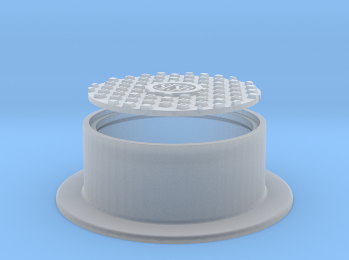 Manhole Cover and Flange 1/32 3d printed
