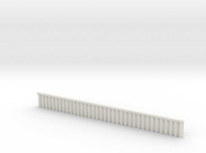 1:285 Quay Wall Sheet Piling H15mm 3d printed