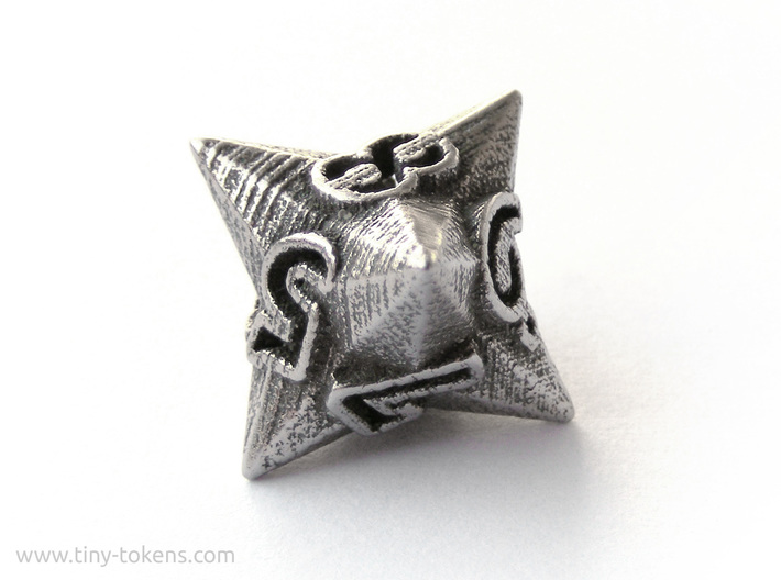 Faceted - D8, eight sided gaming dice 3d printed