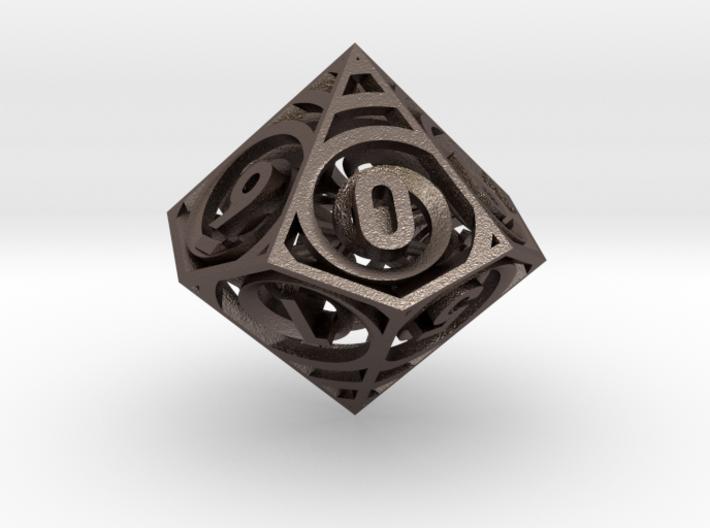 Vertigo Dice - D10 Spindown life counter 3d printed