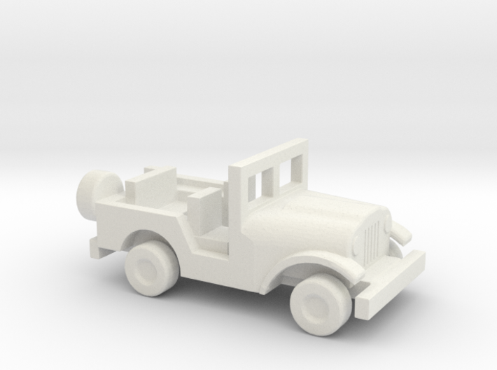 1/144 Scale M38A1 Jeep 3d printed
