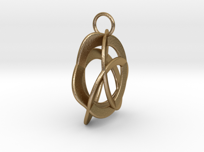 Triquetra Pendant in Polished Steel 3d printed