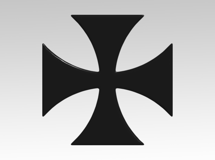 Templar Cross 1 Vehicle Icons 3d printed Product is sold unpainted.