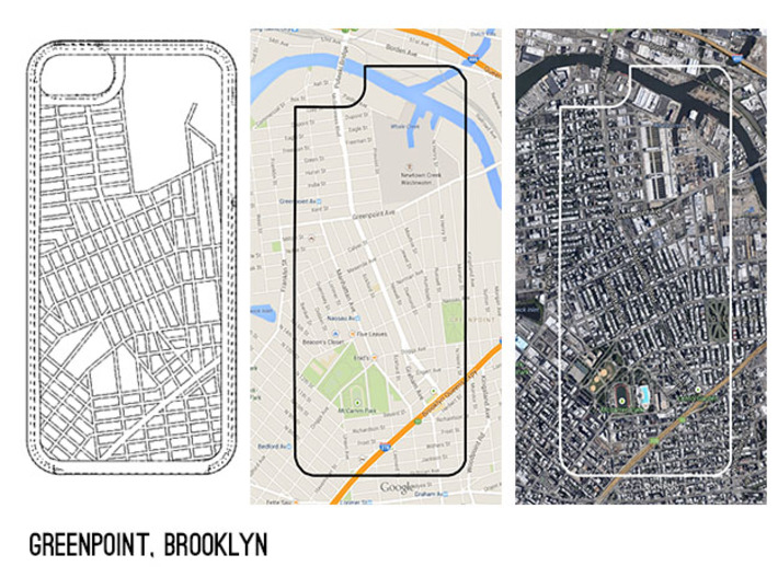 Greenpoint Brooklyn Map iPhone 5/5s Case 3d printed