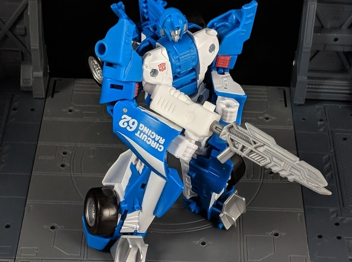 TF CW Streetwise Slim Car Cannon Adapter 3d printed Another Combination with weapon in Robot mode