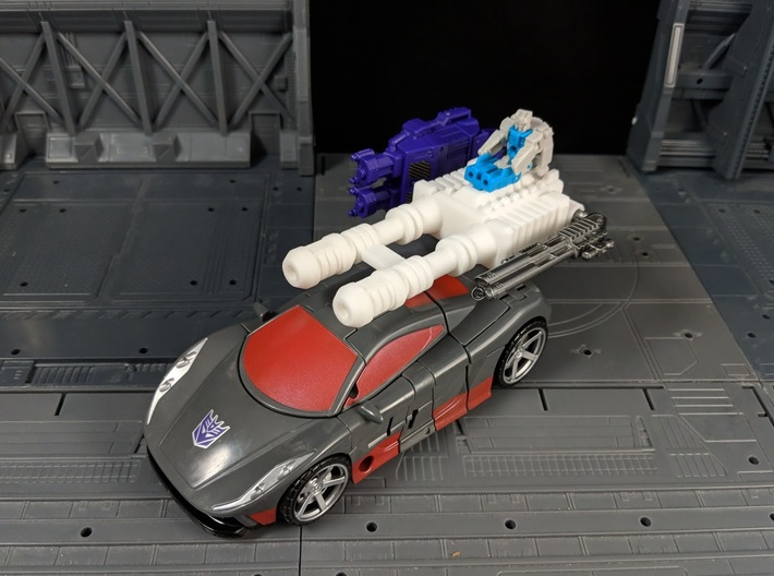 TF Combiner Wars Brake-Neck Wildrider Car Cannon 3d printed Multiple Combinations with other accessories in Vehicle mode