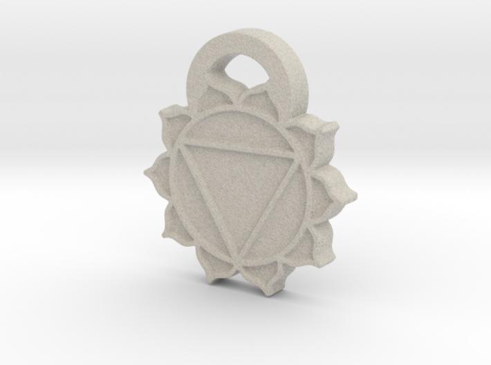 Solar Plexus Chakra Aromatherapy Pendant 3d printed