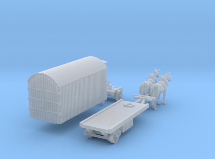 SET Zweispänniger Möbelwagen  (N 1:160) 3d printed