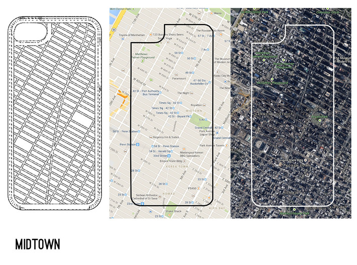 Midtown/ Theater District NYC Map iPhone 5/5s Case 3d printed