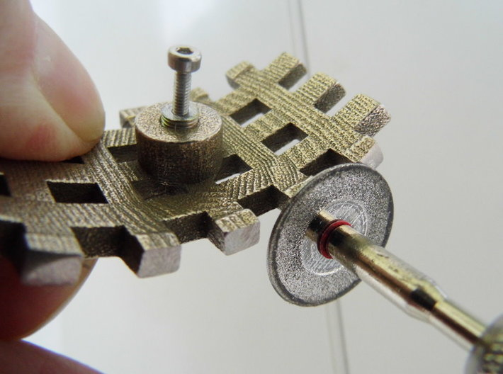 Inlay-Typ 2 for Crusader L 3d printed how to grind sides with diamant tool