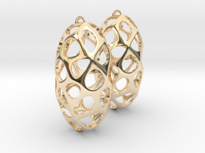 Cell Earrings 3d printed